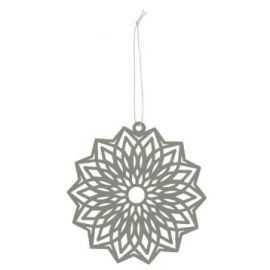 Papirklip blomst Ø12 cm sølv