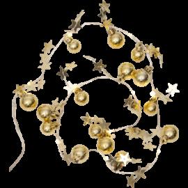 Julelyskæde X-Mas L90 cm guld