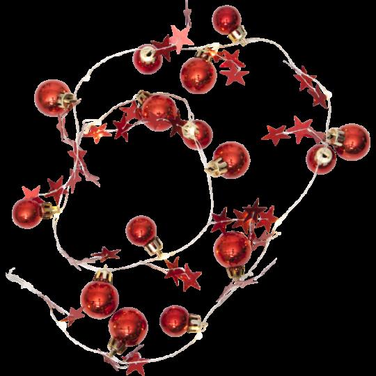 Julelyskæde X-Mas L90 cm rød