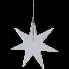 Stjerne Karla 25 cm varm hvid