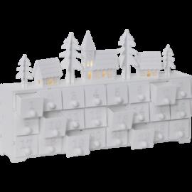 Kalenderhus 1-24 hvid