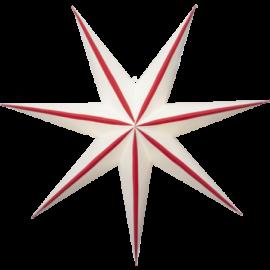 Stjerne Randi 75x75 cm rød/hvid
