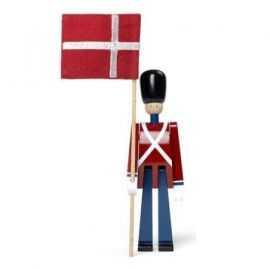 Kay Bojesen Fanebærer mini rød/blå/hvid