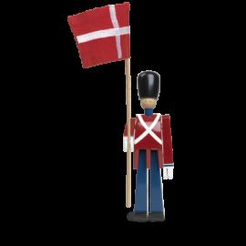 Kay Bojesen Fanebærer lille rød/blå/hvid