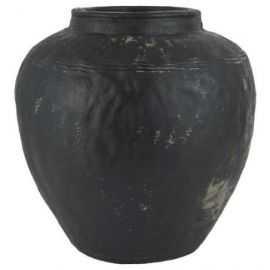 Caesar Vase håndlavet 36x34 cement sort