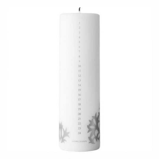 Georg Jensen Kalenderlys 2020 H20 cm sølv