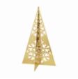 GJ Isblomst Træ large H20 cm guld