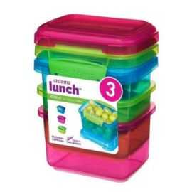 Lunch 400ml - 3 pack coloured