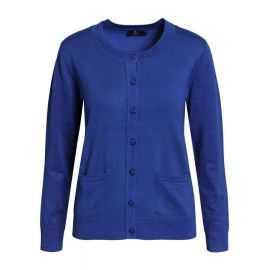 BRANDTEX CARDIGAN MED LOMME  MAZARINE BLUE