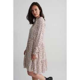 FREEQUENT DRESS OFF WHITE MIX  FQADNEY-DR-FLOUNCE