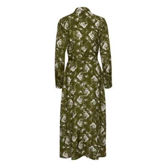KAFFE KAMALINE SHIRT DRESS GREEN