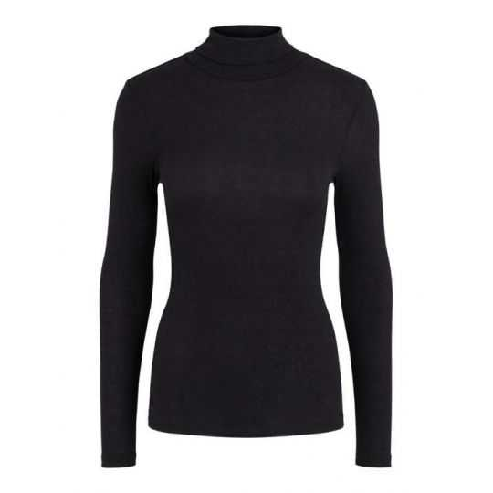 LADIES TOP - FIT: SLIM FIT - SLEEVE LENGTH: LONG SLEEVES - NECKLINE: ROLLNECK - MATERIAL: THIN RIB STRUCTURE - SOFT QUALITY