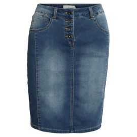 BRANDTEX DENIM NEDERDEL  WASHED DENIM