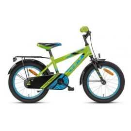 "Børnecykel 16"" grøn/blå Action"