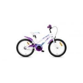 "Børnecykel 18"" purple cat hvid/lilla"