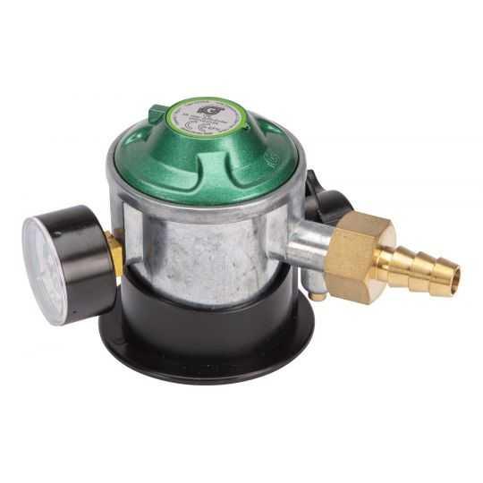 Gasregulator m/Lodret manomete