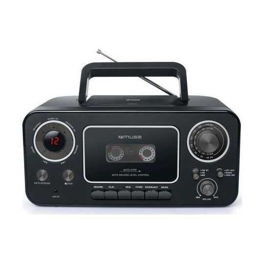 Muse M-182 RDC kassette, CD, Radio