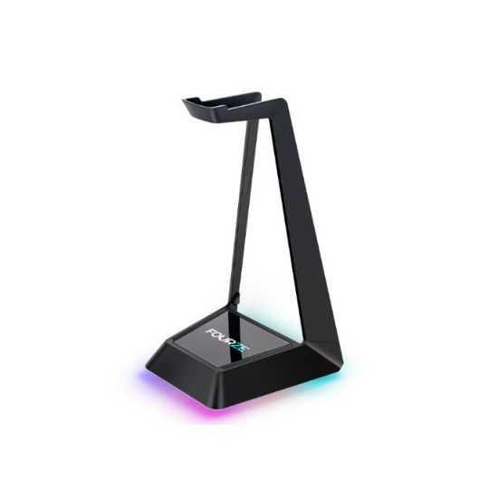 Fourze Headset Stand w/Qi, USB, RGB