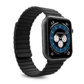 Puro Apple Watch 42-44 mm, M/L, Sili Sort
