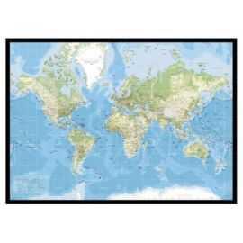 WORLDMAP OPSLAGSTAVLE 84x120CM