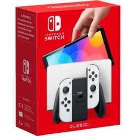 Nintendo Switch OLED spillekonsol Hvid/sort
