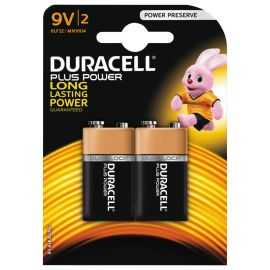 Duracell Plus Power 9V Alkaline Batterier, 2pk