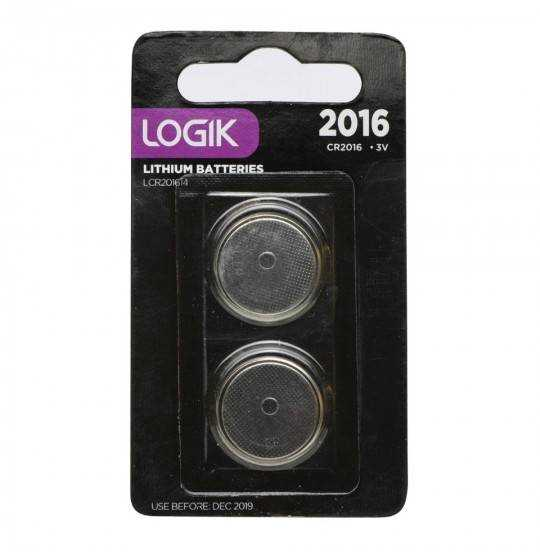 Logik knapbatteri 2 stk CR2016