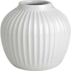 Hammershøi Vase H13 cm hvid