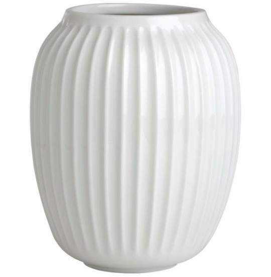 Hammershøi Vase H20 hvid