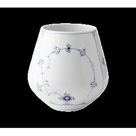 Blue Fluted Plain Vase Large
