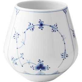 Blue Fluted Plain Vase Medium