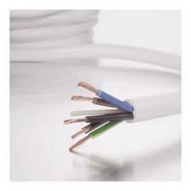E:ZO Netledning H05VV-F 5 x 1,5 mm² hvid 2m