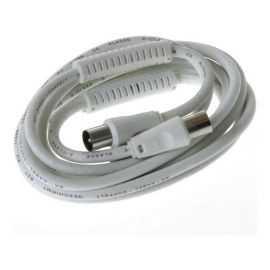 Qnect Antenkabel 90dB 100Hz, 1m, hvid