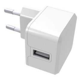 Essentials Vægoplader 1 USB 2,4A, hvid
