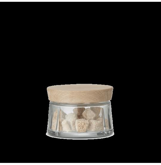 GC Opbevaringsglas 0,25 l, egetræslåg