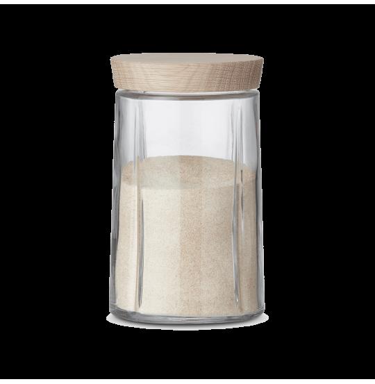 GC Opbevaringsglas 1,0 l, egetræslåg
