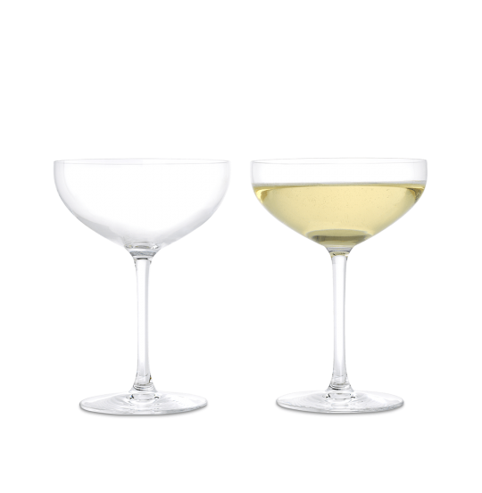 Premium Champagneskål 39 cl klar 2 stk.