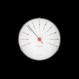 Bankers Termometer Ø12 cm hvid/sort/rød