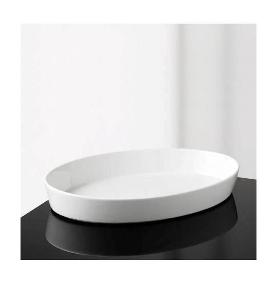 Aroma Oval Fad 30x5 cm hvid