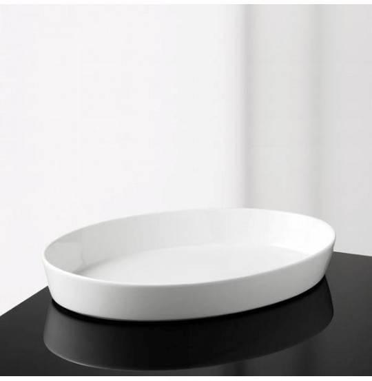Aroma Oval Fad 36x5 cm hvid