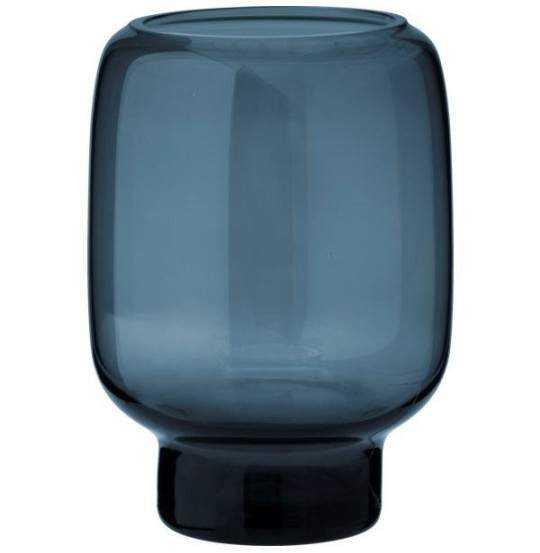 Hoop Vase, Ø10cm, glas, midnight blue