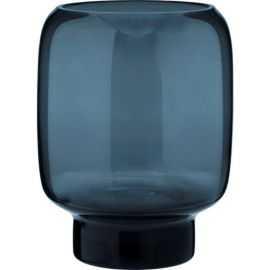 Hoop Vase, Ø13cm, glas, midnight blue