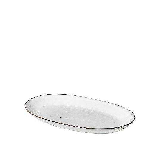 Fad oval L Nordic Sand 17x30 cm