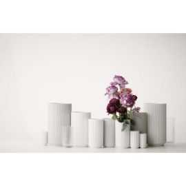 Lyngby Vase H15,5 hvid porcelæn
