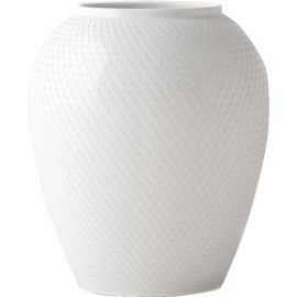 Rhombe Vase H16,5 hvid