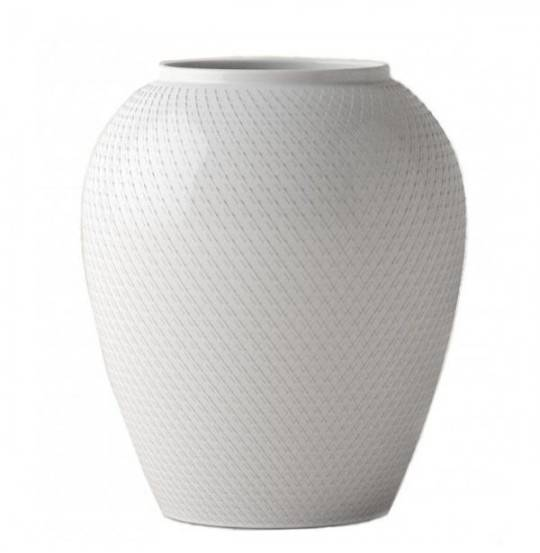 Rhombe Vase H25 hvid