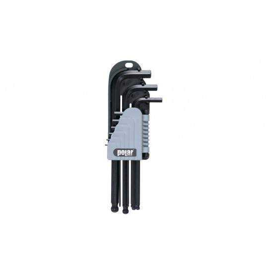 6-kant nøgle sæt lange 9stk Polar Tools