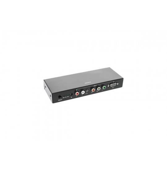 Deltaco Adabter VGA til HDMI m. lyd