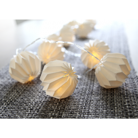Lyskæder Light Chain Origam hvid