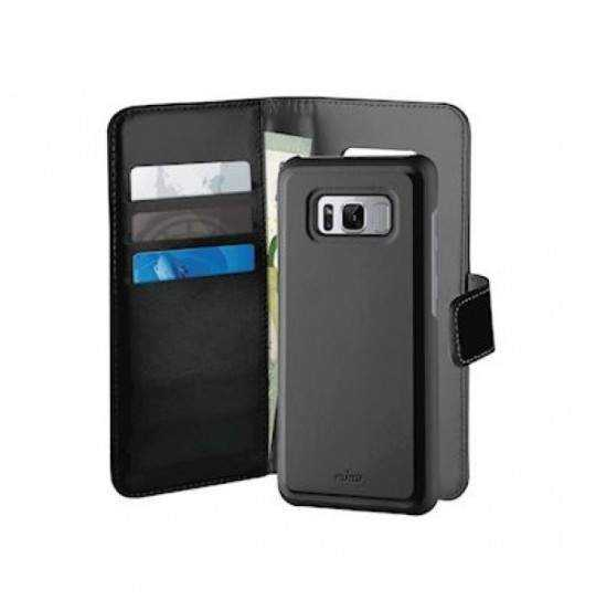 Puro Samsung Galaxy S8, Duetto Wallet, sort/grå